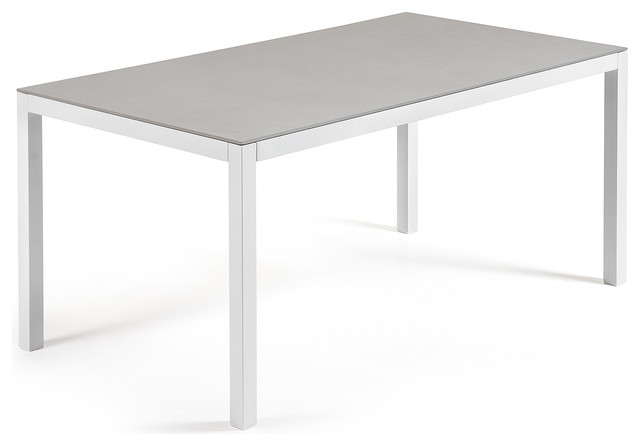 Mesa nessy hydra 160x90 moderne table de jardin for Table exterieur metro