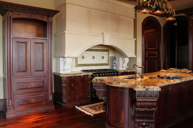 Custom mahogany kitchen traditional charlotte by for Mahogany kitchen designs