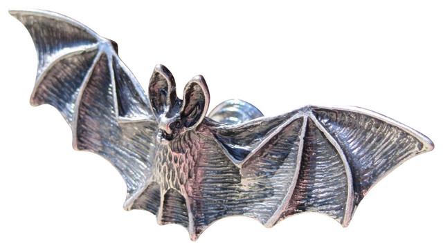 Bat Drawer Knobs, Silver - Cabinet And Drawer Knobs - by DaRosa Creations