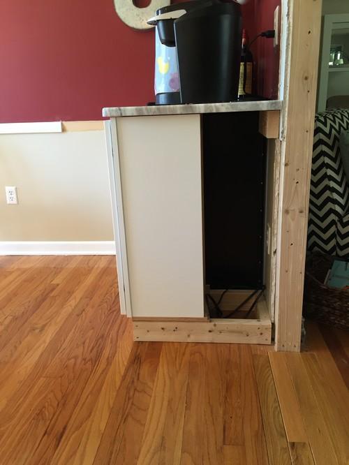 how to close barn door gap between wall