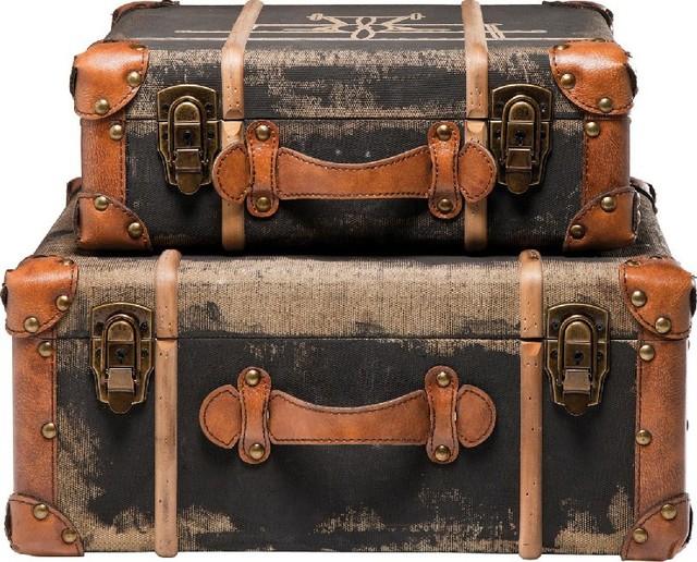 deko koffer aviation 2 set modern deko koffer deko. Black Bedroom Furniture Sets. Home Design Ideas