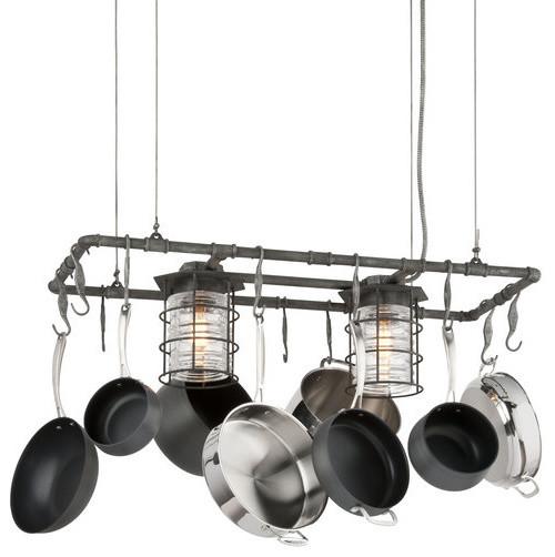 troy lighting brunswick 2 light kitchen island pot rack