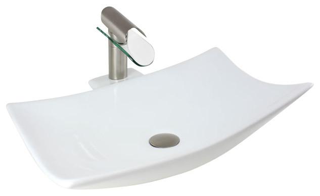 3 Hole Vessel Sink : ... Hole Countertop Bathroom Vessel Sink - Contemporary - Bathroom Sinks