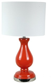 shade table lamp red modern table lamps raleigh by parrotuncle. Black Bedroom Furniture Sets. Home Design Ideas