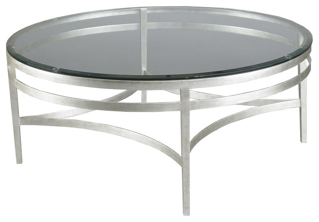 Lillian August Leila Round Cocktail Table Transitional Coffee Tables By Stephanie Cohen Home