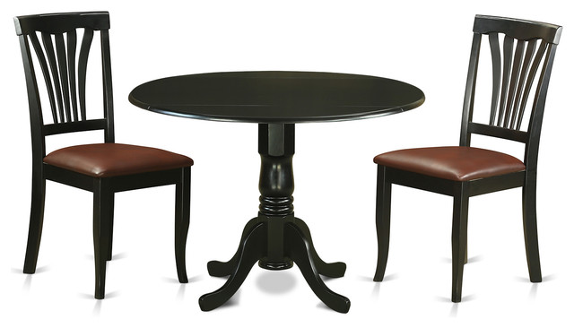 Holly Dining Table Set 3 Piece Black Dining Sets By
