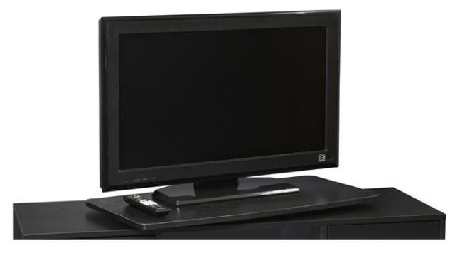 Single Tier Extra Large Swivel TV Turntable - Contemporary - Media Racks And Towers - by ShopLadder