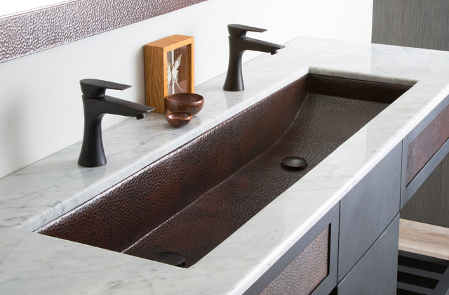 Copper Trough 48 Bathroom Sink By Native Trails Contemporary Bathroom Sinks San Luis