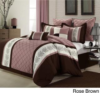 livingston 8 piece comforter set contemporain couvre lit et parure couvre lit par. Black Bedroom Furniture Sets. Home Design Ideas