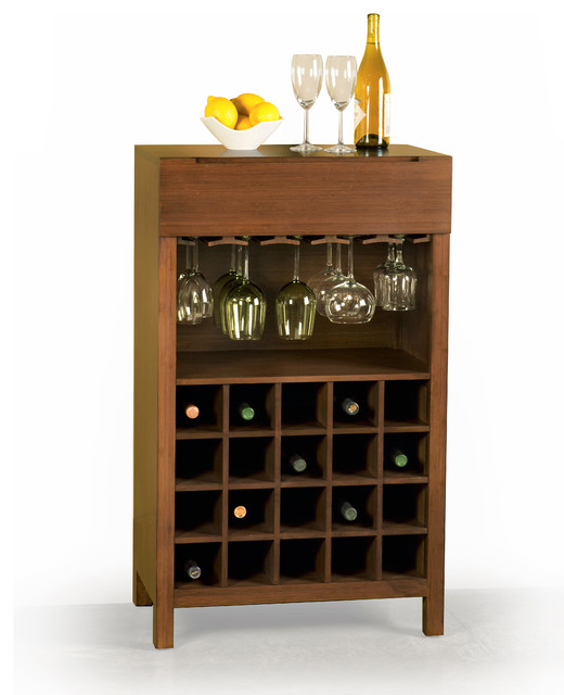 Orchid Wine Cabinet - Contemporary - Wine And Bar Cabinets - by Greenington Llc