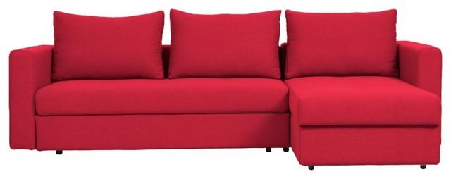 ecksofa estrala mit schlaffunktion rot links modern. Black Bedroom Furniture Sets. Home Design Ideas