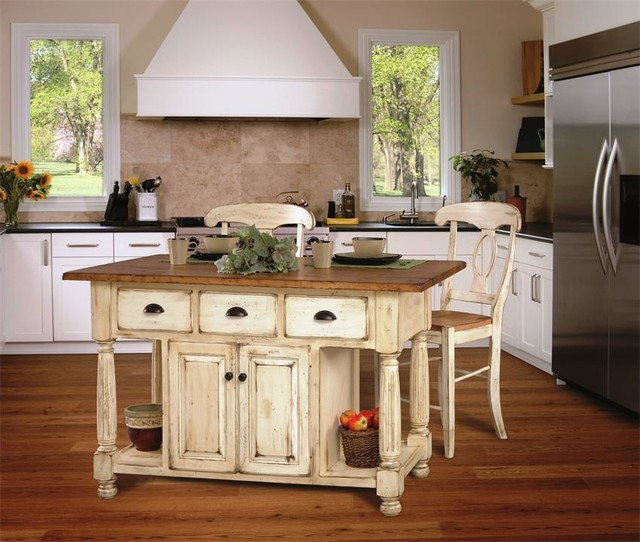 Amish Style Kitchen Cabinets: Leola Collection Kitchen Islands