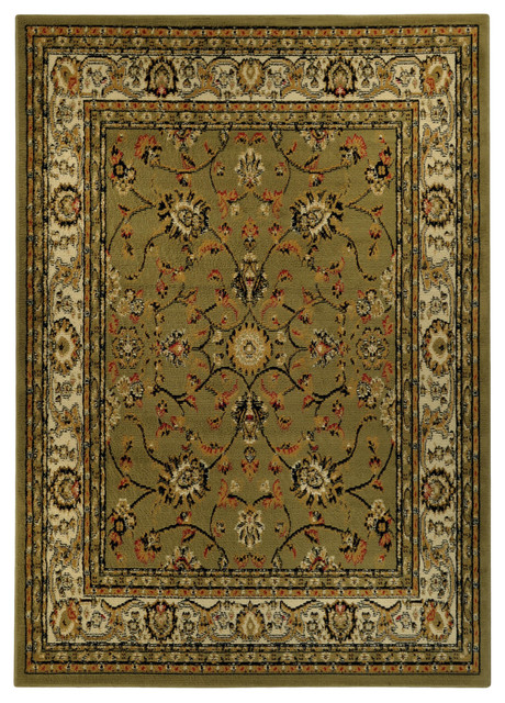 floral garden traditional sage green area rug 4 39 10 x 6 39 10 contemporary rugs by. Black Bedroom Furniture Sets. Home Design Ideas