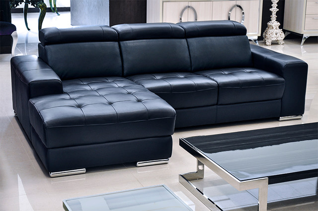 Donato Modern Leather Sectional Modern Sectional Sofas