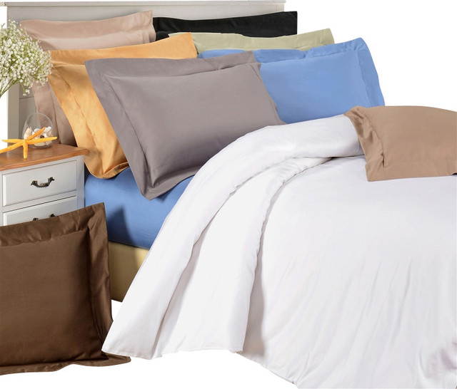 Egyptian Cotton 1500 Thread Count Solid Duvet Cover Sets
