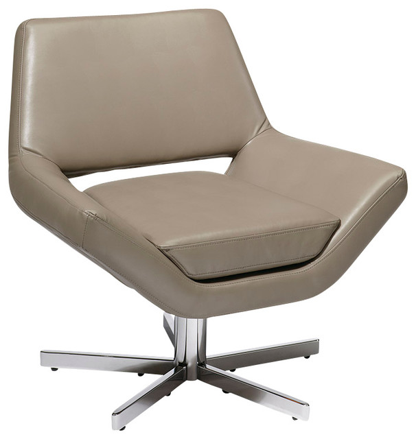 Office Star Avenue Six Yield 31 Wide Chair In Smoke Faux Leather Cont