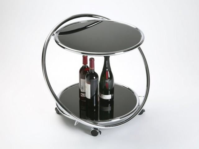 Munich table basse en verre sur roulettes contemporary - Table basse roulettes ...
