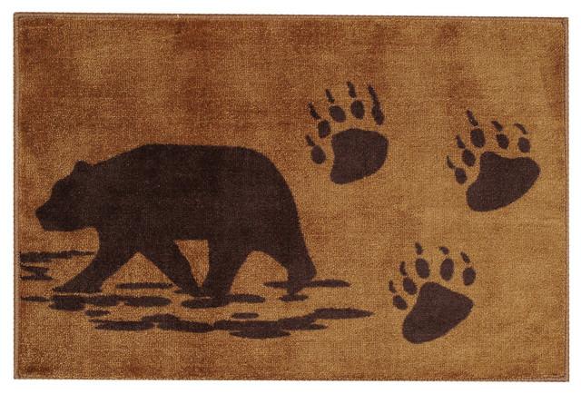 Bear Bath Rug Rustic Rugs By Black Forest Decor