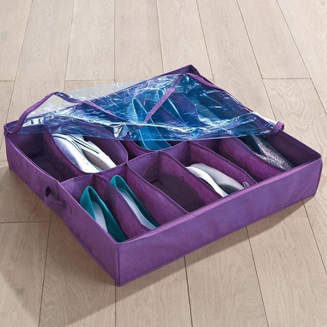 Housse chaussures contemporain rangement chaussures for Housse rangement chaussures