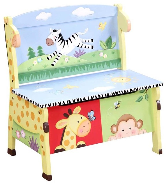 Sunny Safari Storage Bench Modern Kids Storage Benches
