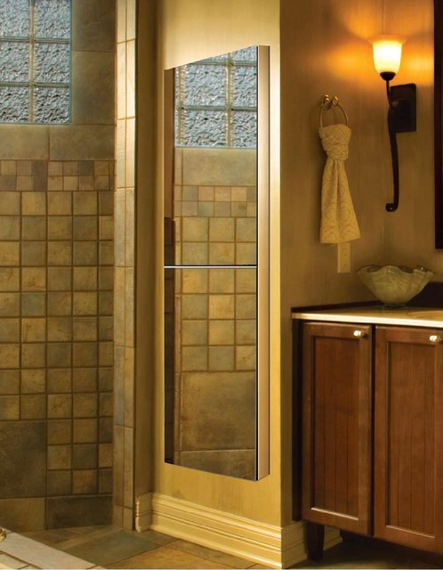 Frameless Vertical Medicine Cabinets - Modern - Bath Products - new york - by GlassCrafters Inc