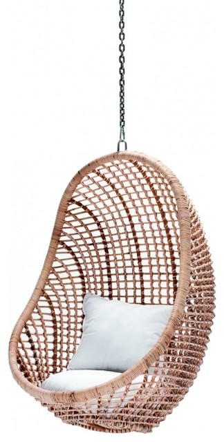 kai pod chair natural eclectic hanging chairs by