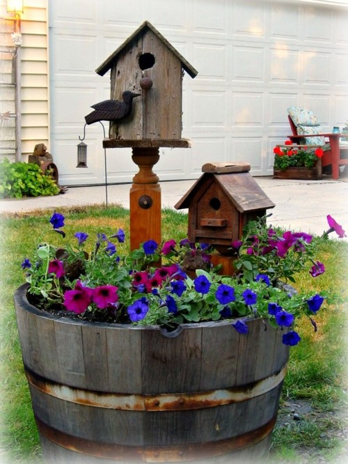 A whiskey barrel planter - The garden web forum ...