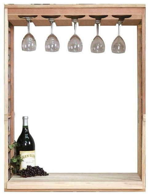 wine glass rack table top insert premium redwood. Black Bedroom Furniture Sets. Home Design Ideas