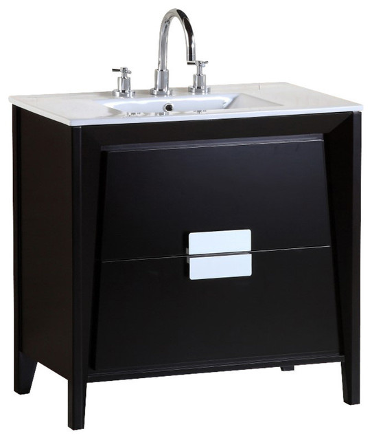 Bellaterra 36 Inch single Sink Vanity contemporary bathroom vanities and sink consoles