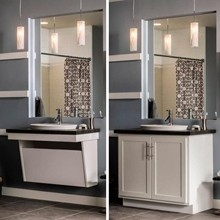 Aristokraft Adaptable Wall Vanity Sink Base - Bathroom ...