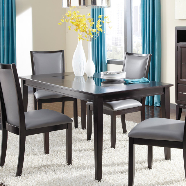 Signature design by ashley trishelle espresso dining room for Dining room tables houzz
