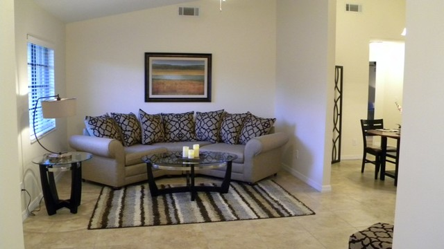 after bella casa expert home staging vacant home staging transitional living room. Black Bedroom Furniture Sets. Home Design Ideas
