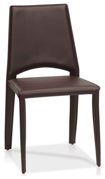 Modern dining chair in leather contemporary dining for Modern leather dining chairs uk