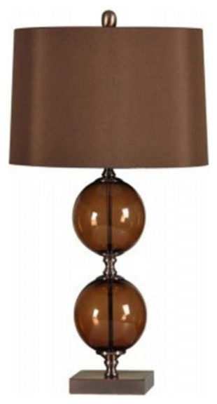 Coffee table lamps coffee drinker coffee brown double gl ball table lamp modern table lamps aloadofball Image collections