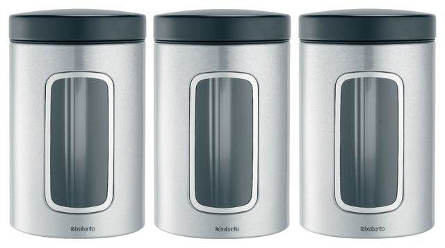 Brabantia Window Canister Set Of 3 Modern Kitchen Canisters And Jars By Dasalla 39 S