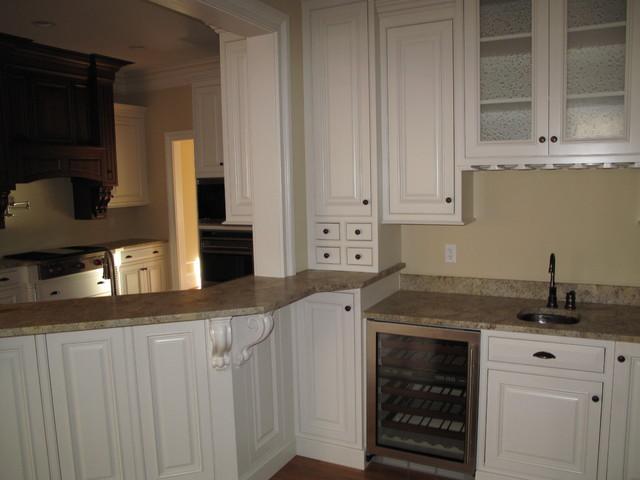 Custom White Cabinets Traditional Kitchen Richmond By Prestige Cabine