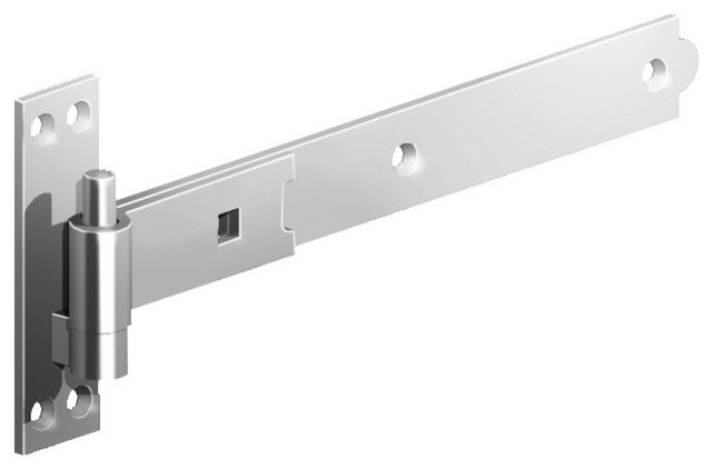 """... Stainless Steel Cranked Bands And Hooks Hinges, 24"""" traditional-hinges"""