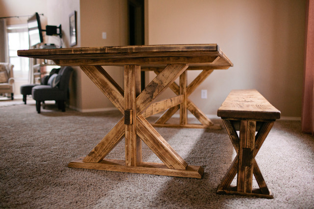 trestle tables and benches 3
