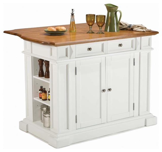 Houzz Kitchen Islands: Home Styles Kitchen Island In Rich Multi Step White