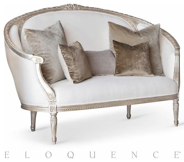 Eloquence versailles canape sofa in silver leaf for Canape poltrone e sofa