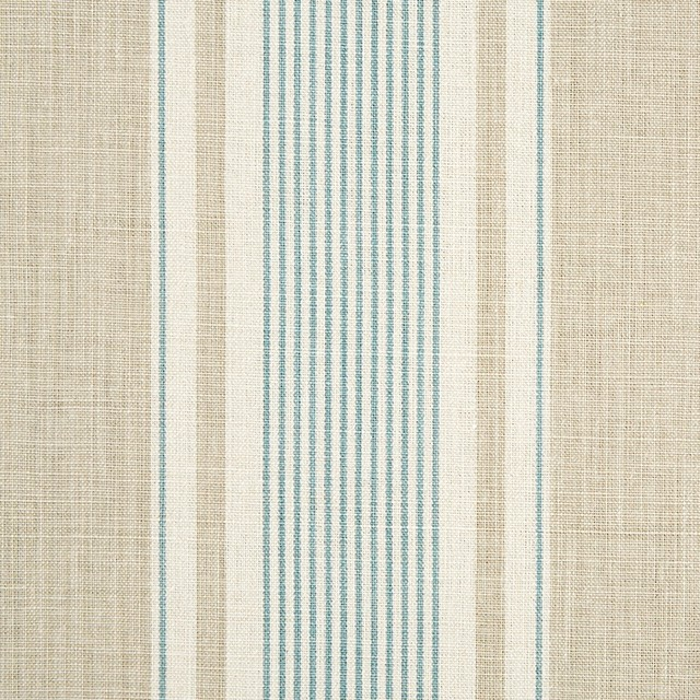 French Ticking Limestone Smoke Country Upholstery