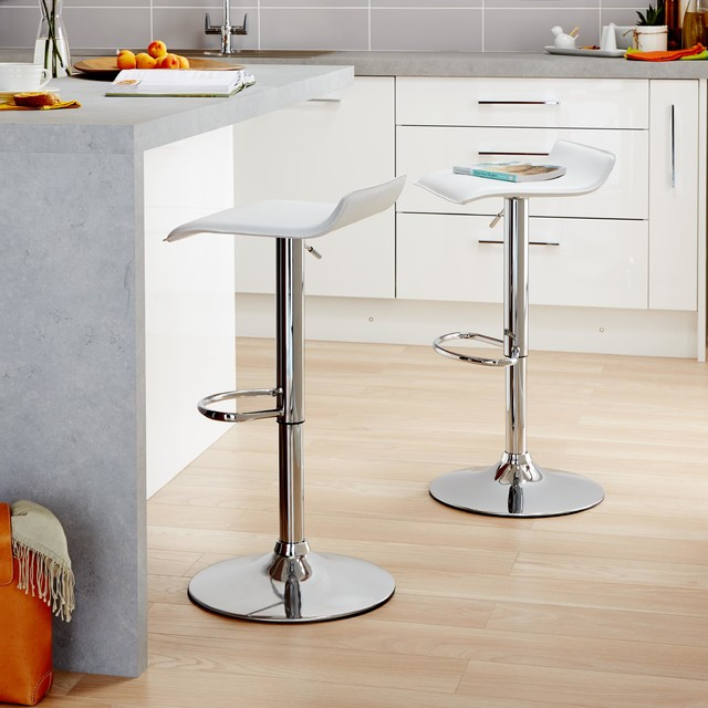 cooke lewis dante white bar stool contemporary bar