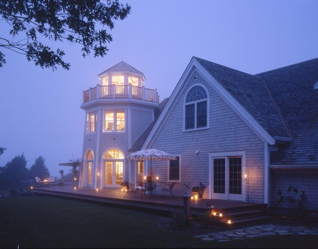 Cape cod lighthouse home 3597 traditional exterior for Cape cod house exterior design