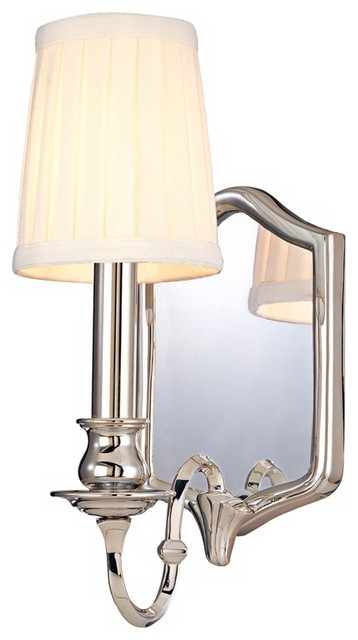 "Endicott Polished Nickel 11 1 2"" High Wall Sconce Farmhouse Wall Lig"