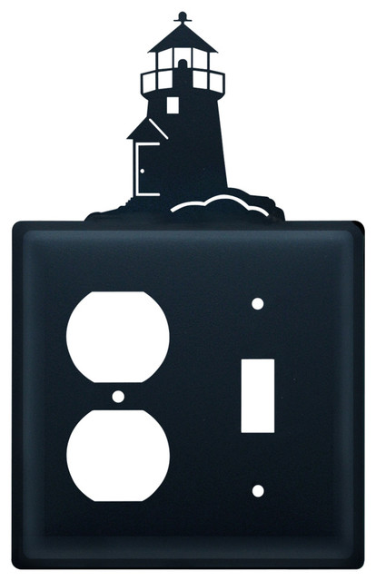 lighthouse single outlet and switch cover beach style