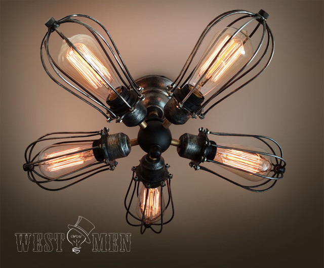 Steampunk Ceiling Fans With Lights
