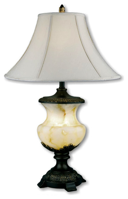 32 alabaster table lamp night light traditional table lamps. Black Bedroom Furniture Sets. Home Design Ideas