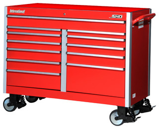 """54"""" Super Heavy Duty deep Tool Cabinet With Stainless Steel Work Surface - Contemporary - Garage ..."""