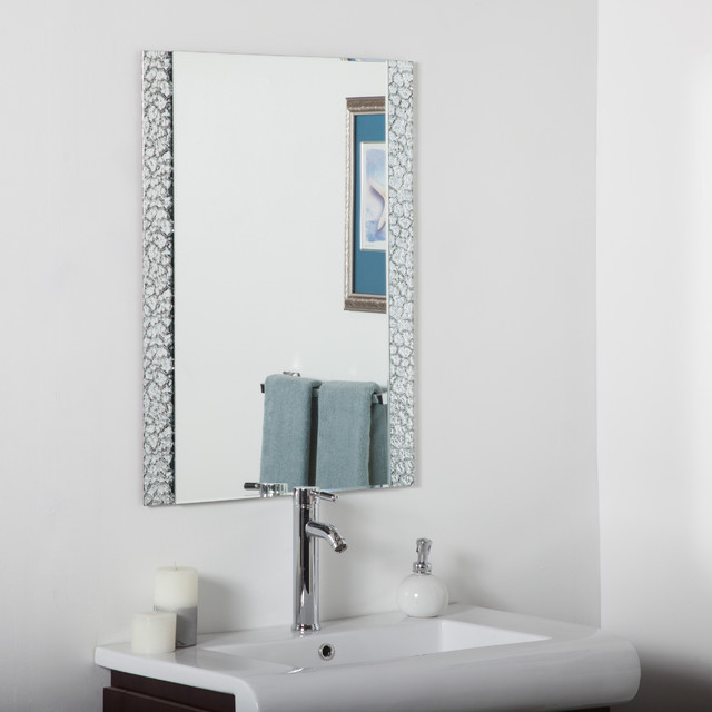 Vanity Bathroom Mirror Contemporary Bathroom Mirrors By