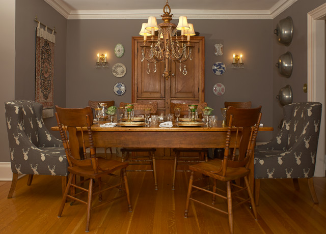 Refreshed georgian traditional dining room toronto for Georgian dining room ideas